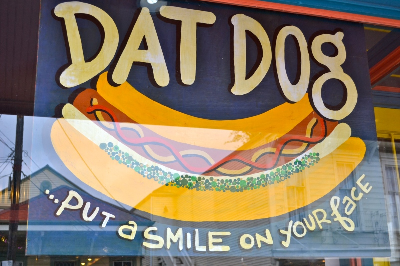 First place we went out to eat. a fancy hotdog spot!