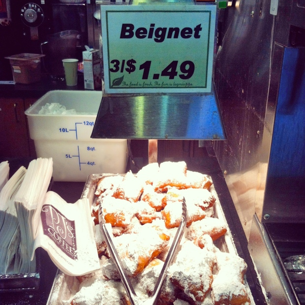 Beignets! Caught this pic right before I jetted out of NOLA. hehehe