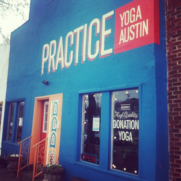 Took a nice sunday flow at Practice yoga Austin. Such a fab studio on 6th street. highly recommend!!!!!!!!!!