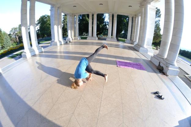 shane and i did a little yogi at Cheeseman Park.