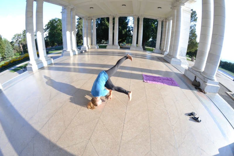 shane and i did a little yogi at Cheeseman Park.
