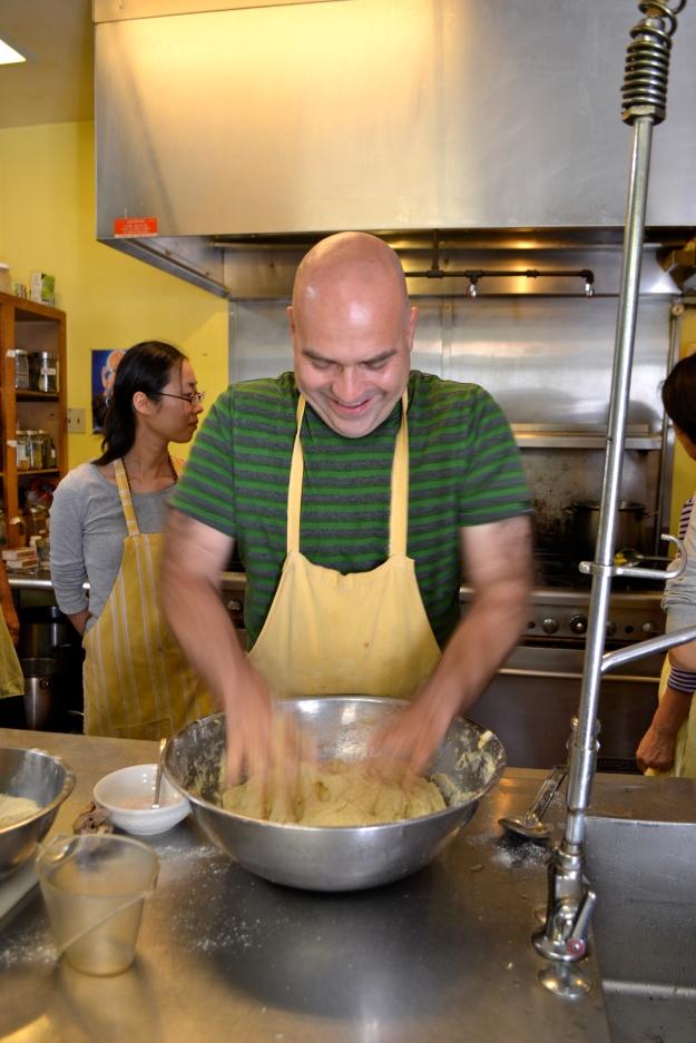 Molding the dough!