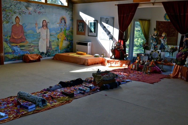 Everyones objects of new intention and study laid out for blessing.